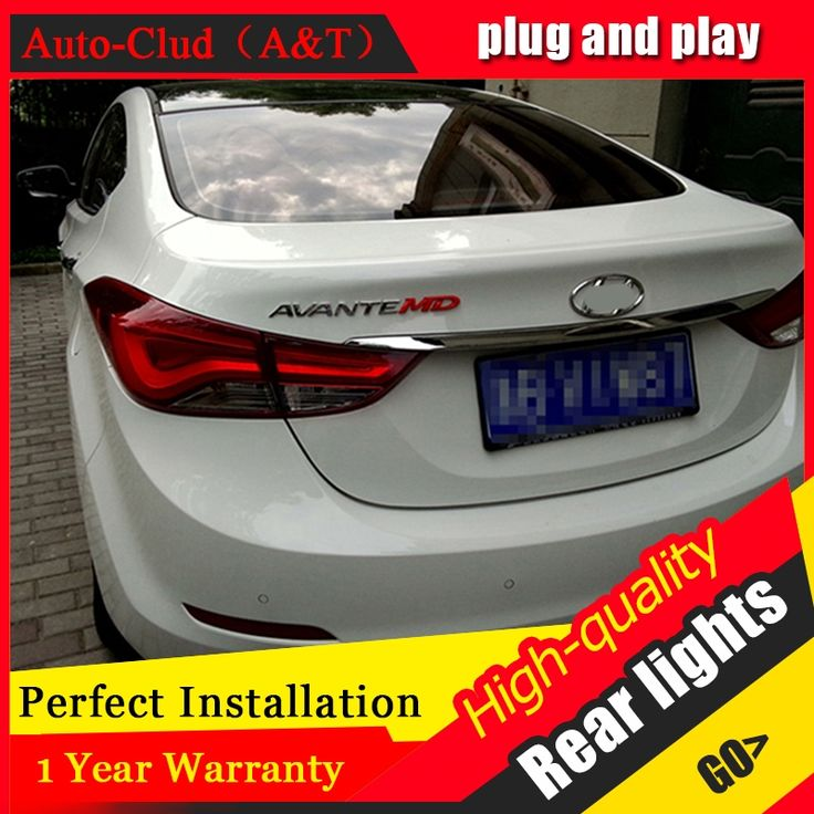 276.25$  Watch now - http://alic1y.worldwells.pw/go.php?t=32696193579 - Auto Clud Car Styling for Hyundai Elantra Taillights Korea Design New Elantra MD Tail Lamp Rear Lamp DRL+Brake+Park+Signal led l