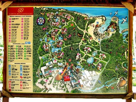 Occidental Grand Xcaret  Royal Club Photo The resort map