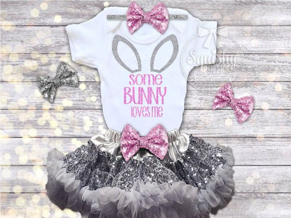 Girls Easter Outfit Easter Dress Baby Easter by BabySquishyCheeks
