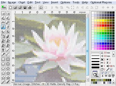 Cross Stitch module of Embird embroidery software is editor that allows to create cross stitch patterns for machine embroidery.