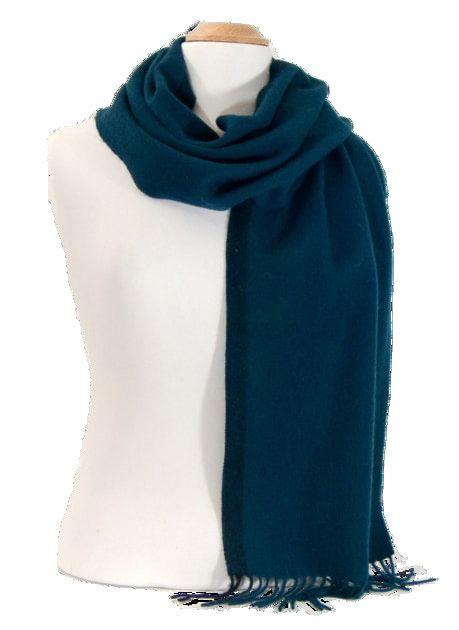 Echarpe en laine bleu canard rayure   mesecharpes.com 5cfa6a107b9