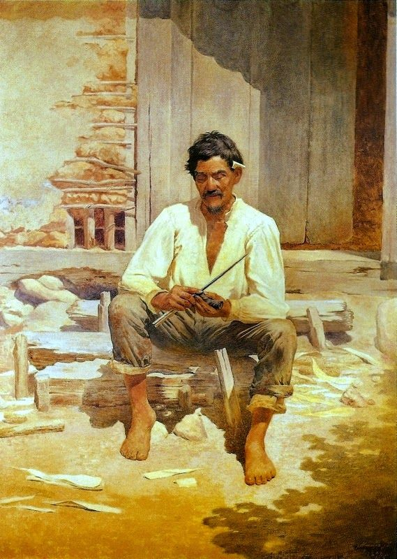 Almeida Júnior - (Realismo) Brasileiro - Pinturas com Títulos - Pinturas do A'Uwe