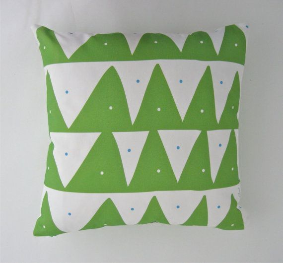 Scandinavian inspired pillow cover in Spring green by TroskoDesign