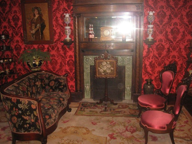Victorian Living Room Red Dark Gothic Vic...