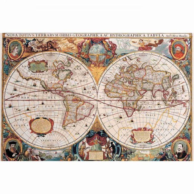 Adesivo foto mural mapa mundi 025