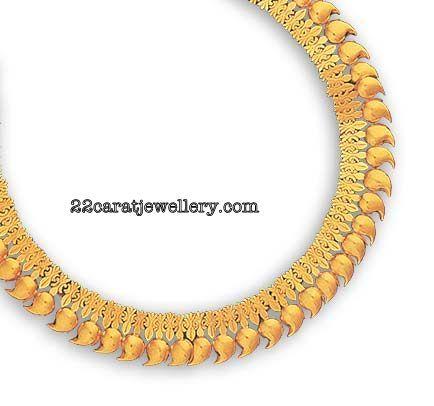 Gold Plain Mango Mala(Mango Maalai) Designs Gallery (South Indian Traditional Jewellery) | Jewellery Designs