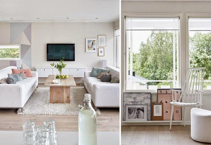 Una casa de estilo n rdico y familiar for Muebles oscuros paredes claras
