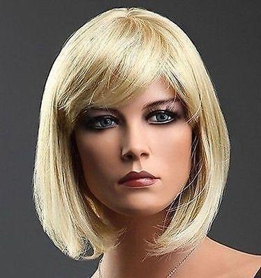 Стиль боб блондинка полушерстянная короткий парик леди ну вечеринку необычные парики жаростойкие волокна cospay парики