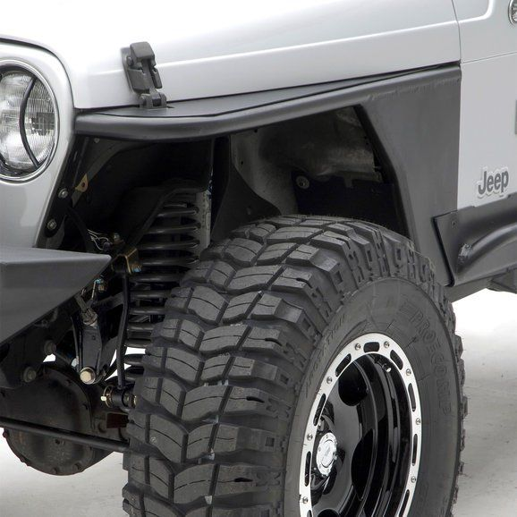 Smittybilt Front Xrc Tube Fenders Without Flare In Textured Black For 76 06 Jeep Cj 7 Wrangler Yj Tj Unlimited