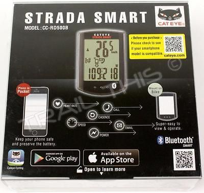 Cycle Computers and GPS 30108: Cateye Strada Smart Wireless Bluetooth Cc-Rd500b Bike Computer W Speed Cadence -> BUY IT NOW ONLY: $114.95 on eBay!