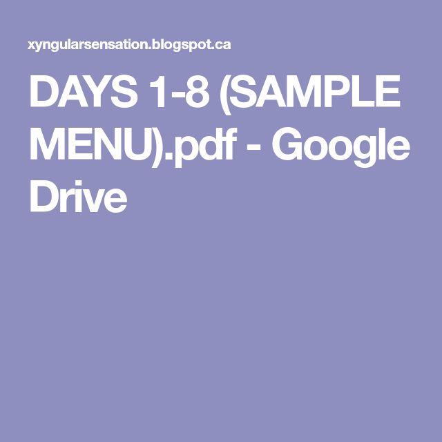 DAYS 1-8 (SAMPLE MENU).pdf - Google Drive
