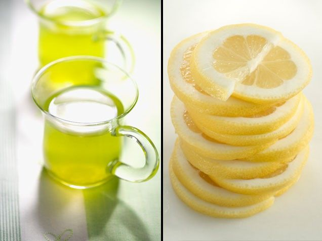 "Green Tea + Lemon = A Healthier Heart | Stay-Well Strategy: After brewing yourself a cup of green tea, squeeze in the juice of one whole lemon (you can also use an orange, lime or grapefruit, all runners-up in the study). Don't want to DIY? Look for bottled green teas that list ""ascorbic acid"" (also known as vitamin C) among their ingredients. Scientists say the vitamin C in citrus fruits can also improve catechin absorption. 