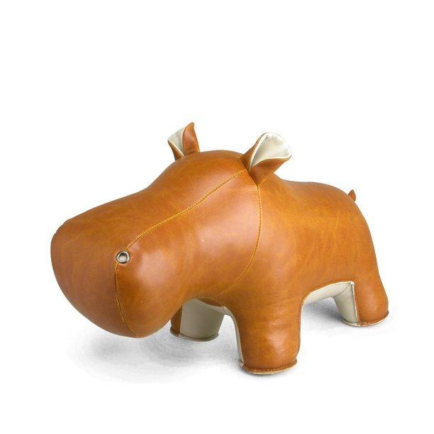 Hippo Budy Door Stopper Tan