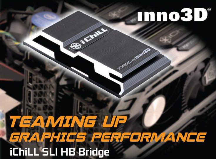 Мостик Inno3D iChill SLI HB Bridge позволяет связать две 3D-карты Nvidia GeForce GTX 1070 1080 или Titan X
