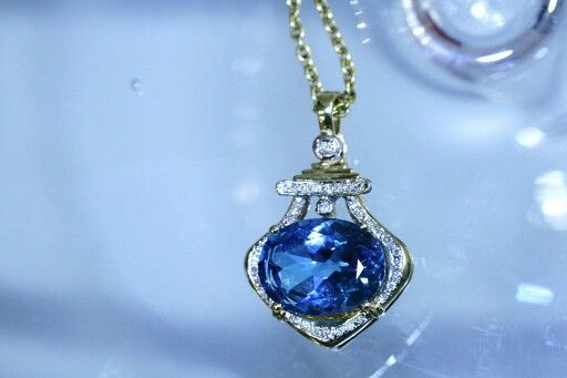 Topaz and diamond necklace... #loveit