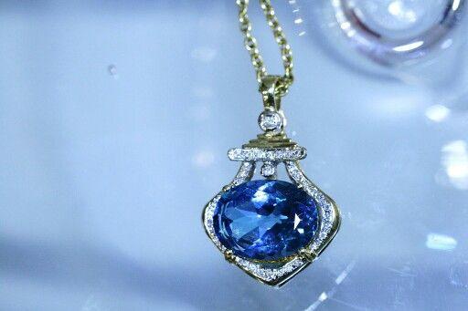 Topaz and diamond necklace... #loveit