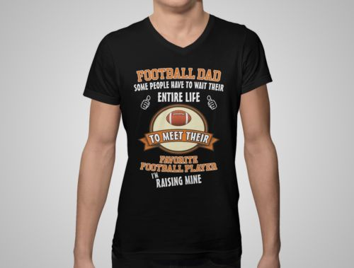 Football-Dad-Father-And-Son-Baby-Funny-T-Shirt-Tee-Top-Gift-For-Men-Husband