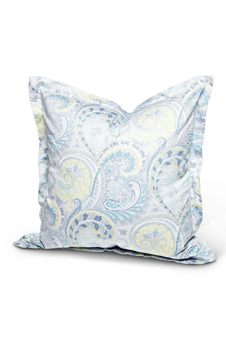 OUR NEW PAISLEY  - Florence Design pillow in blue paisley - we <3 it!