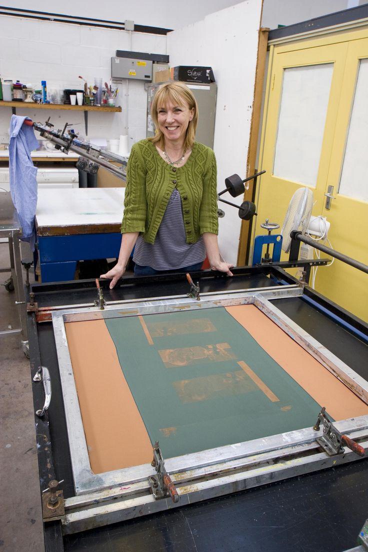 Julie Hoyle, printmaker, Surrey Artists Open Studios