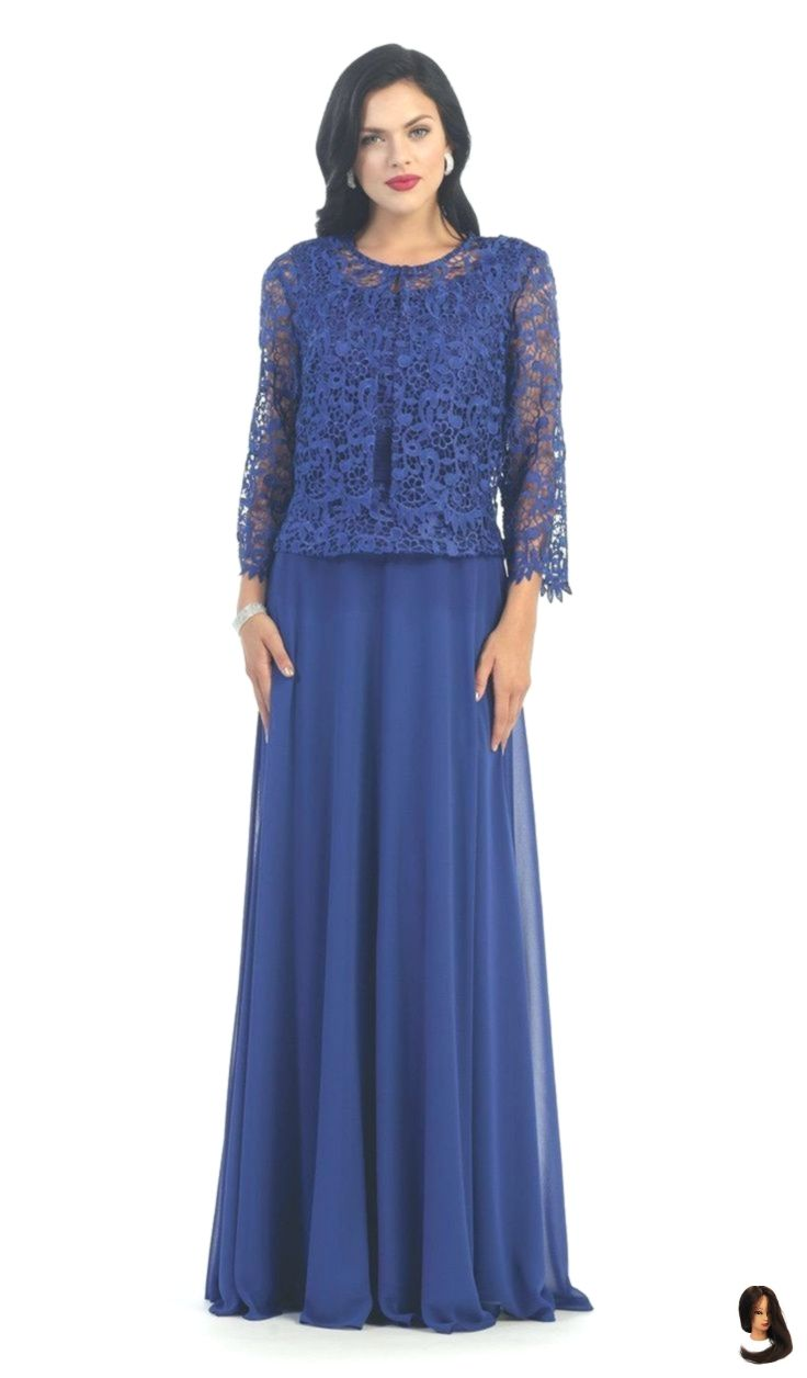 May Queen - MQ10 Exquisite Bateau Lace Langes Abendkleid mit