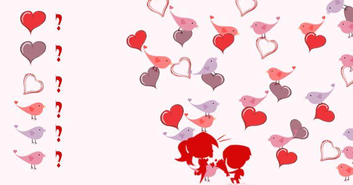 Kolik najdete srdíček a ptáčků?  #valentyn #svatekzamilovanych #laska #hledani #pocitani