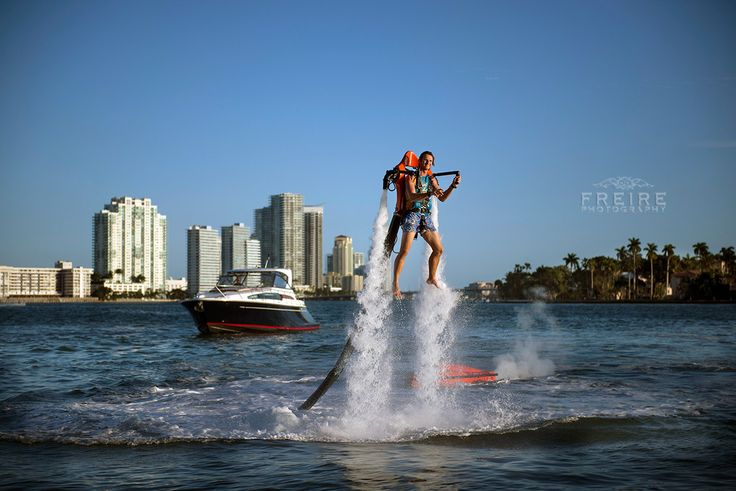#Miami has amazing weather for water toys all year long. That is the reason why AquaJet is here with their JetPacks and JetBoards. Photo by @Freire Photography | Jan Freire