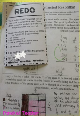 REDO slips are a GREAT way to hold students accountable with their work!