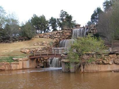 The falls in Wichita Falls, Texas