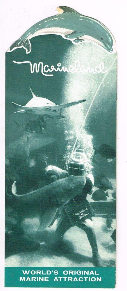 Vintage Florida Tourist Brochure Marine Land Marineland 1960's Ocean Dolphin + #Vintage