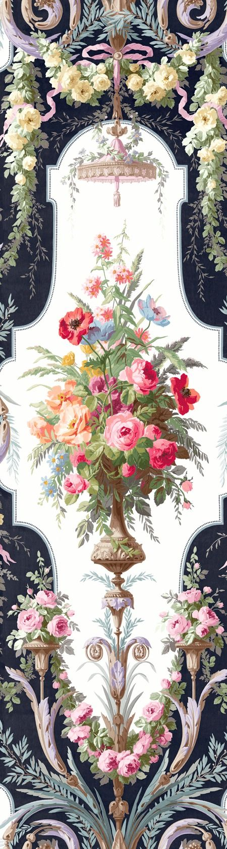 Full Urn Mural from The English Rose Collection by Pelican Prints (EN11702M)