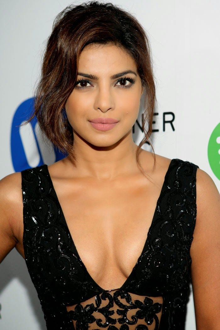 Priyanka Chopra in Black See-through Dress at GRAMMY After Party