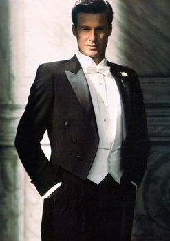 White tie and tails is a great formal look for a  wedding.