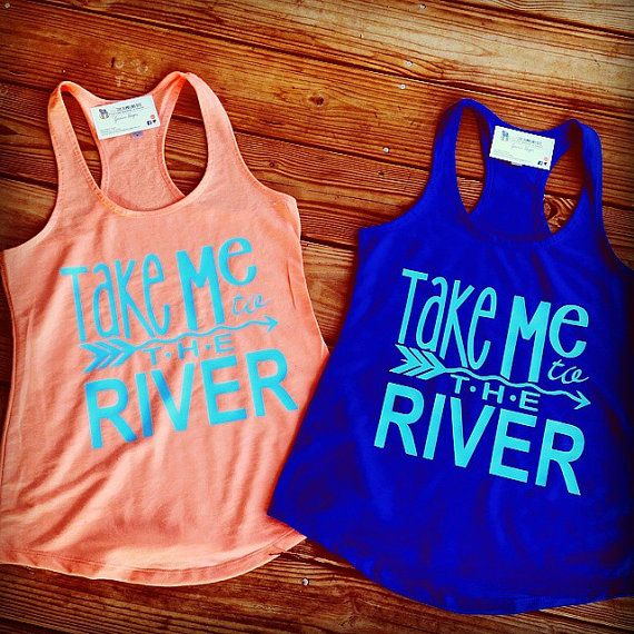 Take Me To The River Tank River Tank by BumblingBeeBoutique