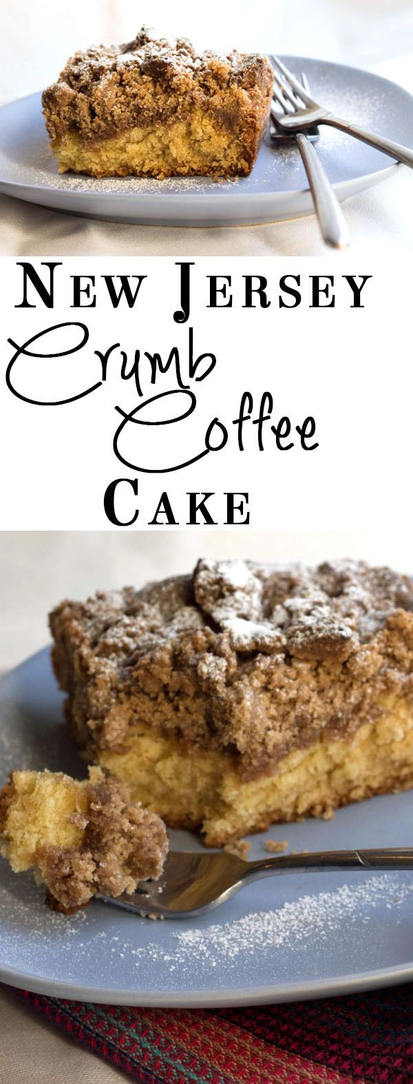 NJ Crumb Coffee Cake - A moist and delicious cake topped with an extra thick crumb topping - truly indulgent!