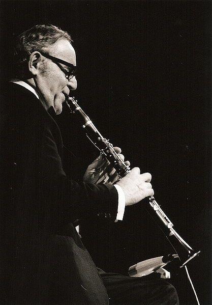 Benny Goodman in concert in Nuremberg, Germany 1971. (05/30/1909 - 06/13/1986) was an American jazz & swing musician, clarinetist & bandleader - known as King of Swing.