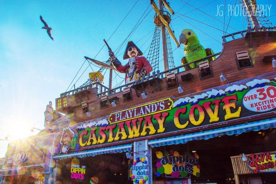Castaway Cove (beach, sunset, ocean city, new jersey, boardwalk)