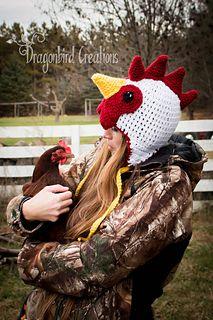 Chicken_hats/ Rooster hat - crochet pattern