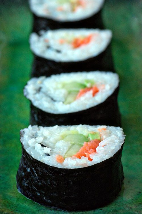 Make your own sushi. Im glad I turned my kids on to it...grateful I have the career to afford it :)