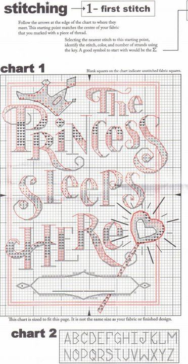 Cross-stitch The Princess Sleeps Here, part 2... color chart on part 3... Gallery.ru / Фото #1 - 13 - benji67