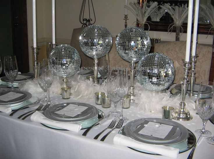Disco Ball Table Decorations Entrancing Disco Ball New Year Themes  Merry Christmas And Happy New Year 2018 Inspiration Design