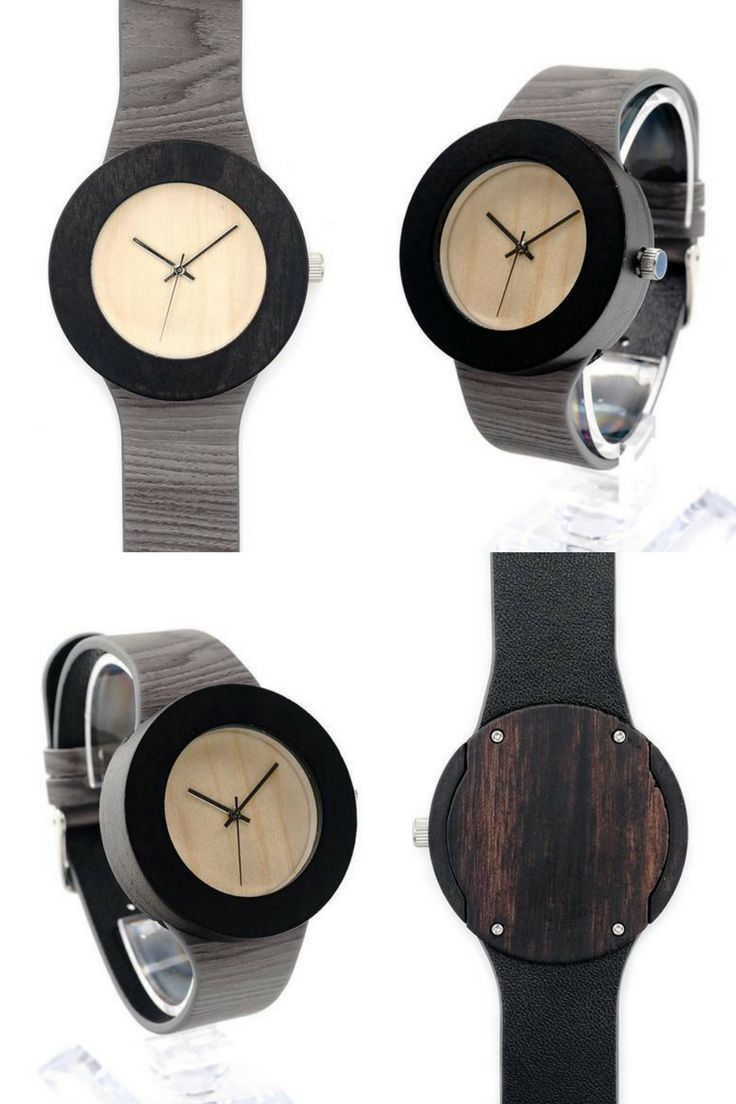THE JASMINE | WOODEN WATCH  This wooden watch piece combines a multitude of colors to create a very trendy and appealing style. The light gray wristband showcases the ultra-deep circular wood of the watch face. The pale soft wood of the watch face is an eye-catching lovely contrast to the darkness of the outer shell. The details in the wristband add character and dimension to the watch. Just a breathtaking work of art.