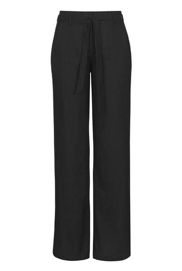"Womens Long Tall Sally Black Linen Pants Size 12 Wide Leg 36"" Classic Rise LTS  #LongTallSally #WideLeg #WorkCareerCasual"