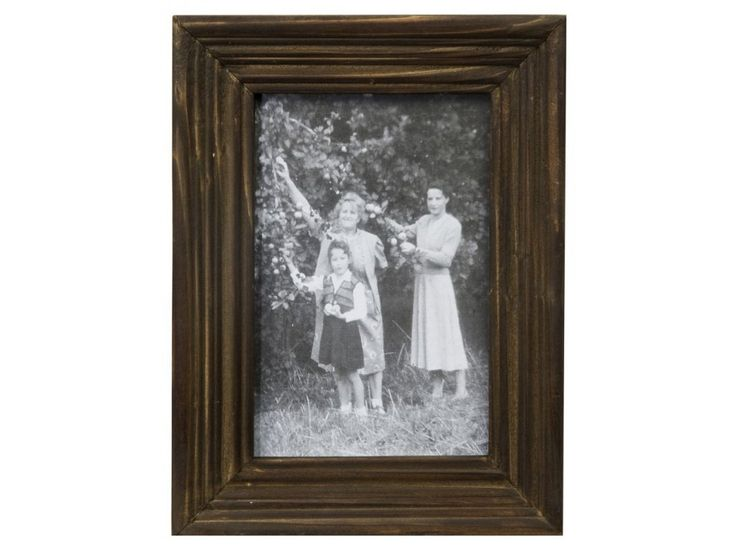 Rámeček na fotky z kolekce Memoires, tmavě hnědá barva s patinou