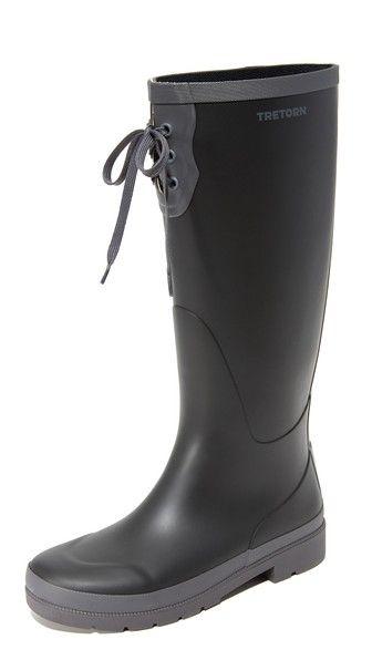 Tretorn Высокие резиновые сапоги на шнуровке