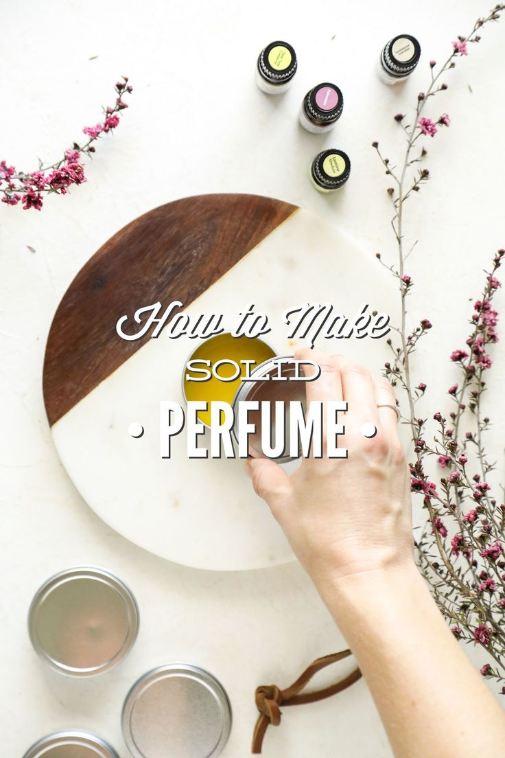 How to make a simple solid perfume with natural essential oils. Use essential oils to create your own custom scent for perfume.