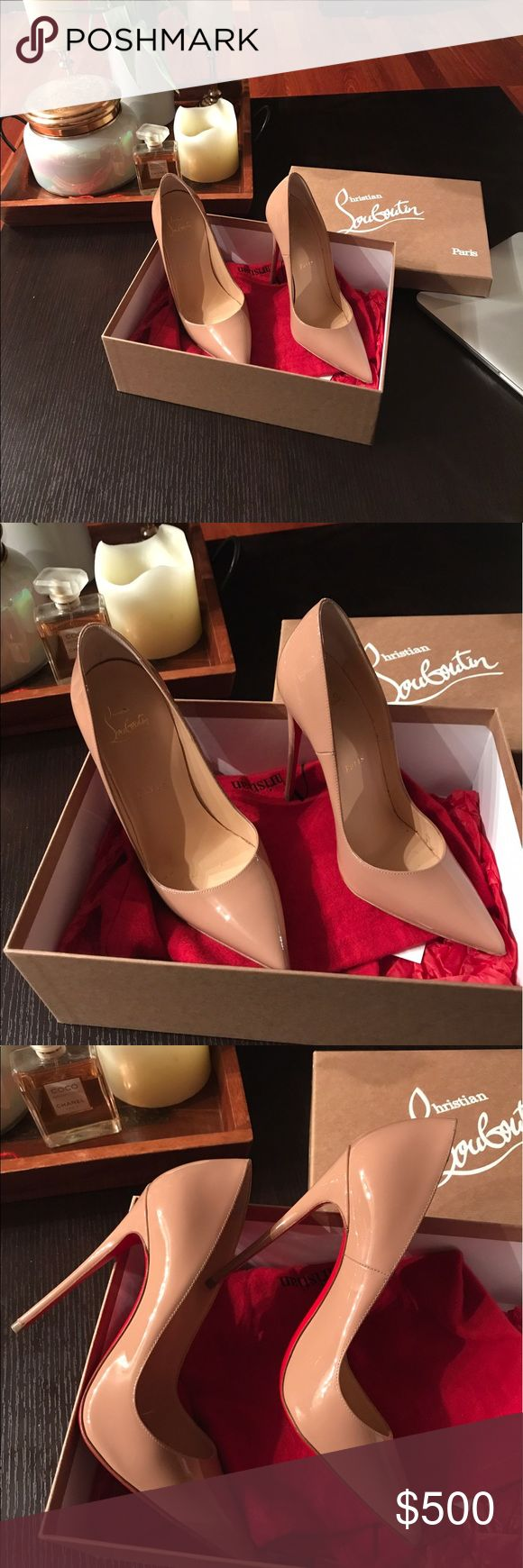 🔥Christian Louboutin So Kate, 120mm, Patent Nude ❗️Letting them go for $420 on e🅱️ay❗️.Authentic, comes with the original box, dust bag and the receipt. Worn a few times, perfect condition. NO OFFERS . Also can consider a trade for Pigalle Follies patent black, similar condition. Thank you ladies😘 Christian Louboutin Shoes Heels