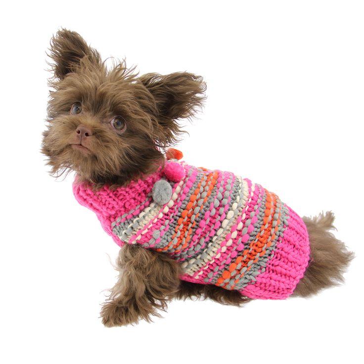 Zack and Zoey Elements Chunky Pom-Pom Dog Sweater