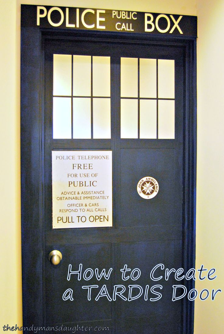 Calling all Whovians! Follow these easy step-by-step instructions to make your very own TARDIS door. Ability to travel through space and time not included.
