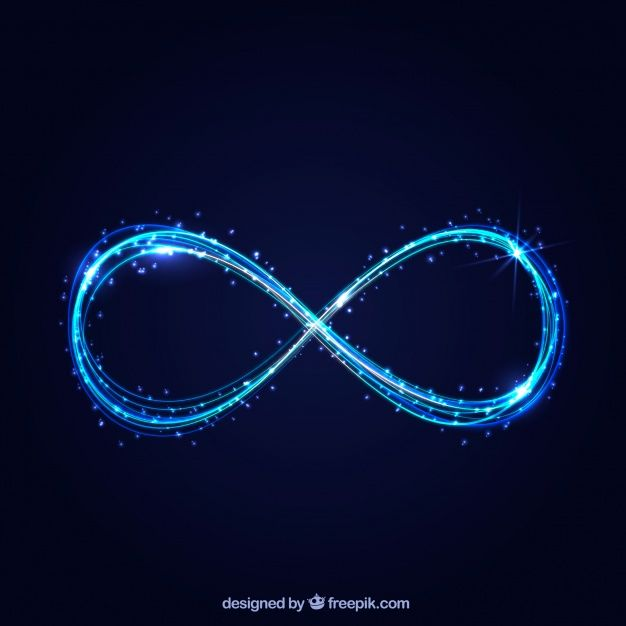 Infinity Symbol With Glowing Effect Free Free Vector Freepik Freevector Icon
