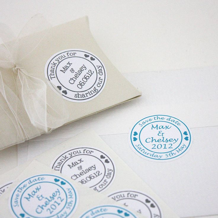 Personalised Wedding Stickers from notonthehighstreet.com